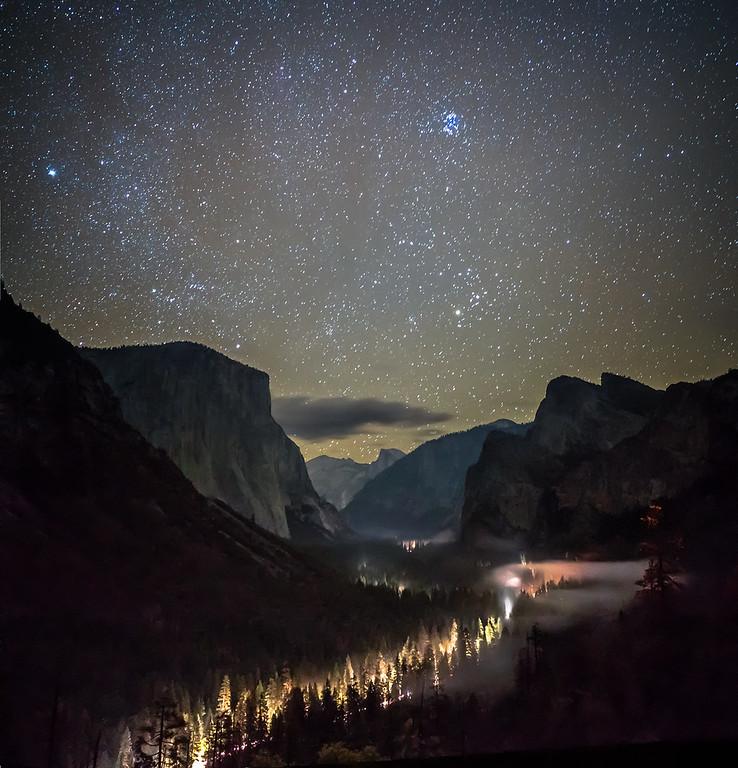 Night Lights of Yosemite Valley