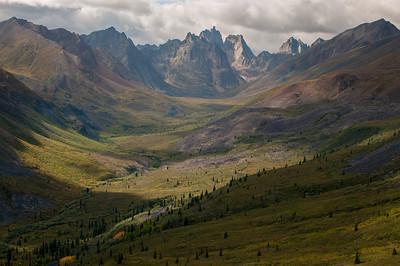 Hiking in the Tombstones, Yukon Territory, Canada.