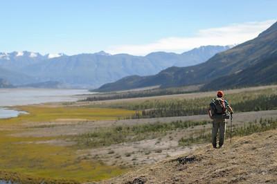 Look up the Slims River West Trail, Kluane National Park, Yukon Park, Canada.