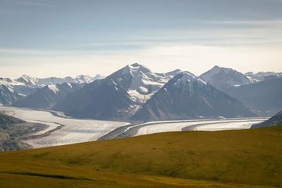 Kaskawulsh Glacier from the Plateau below Observation Mountain, Kluane National Park, Yukon, Canada