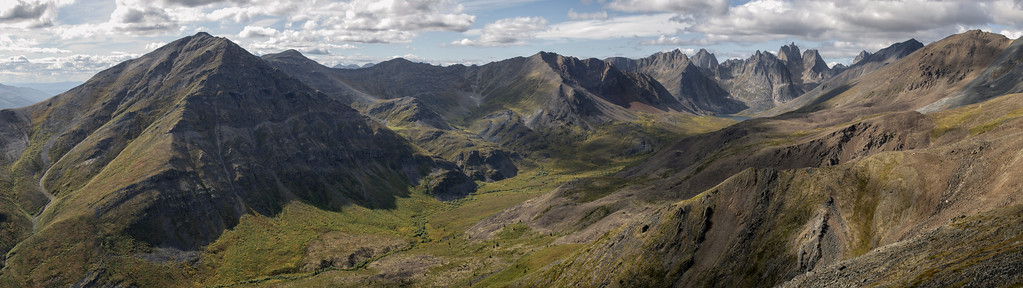 Grizzly Creek looking towards Mount Monolith and the Tombstone Mountains. Off the Dempster Highway, Yukon, Canada.
