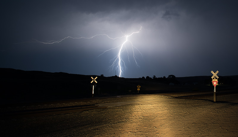 Lightning in western Nebraska