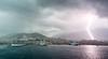 Lightning over Ajaccio, Corsica, France