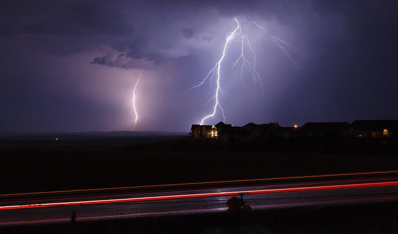 LIghtning near Rapid City, South Dakota