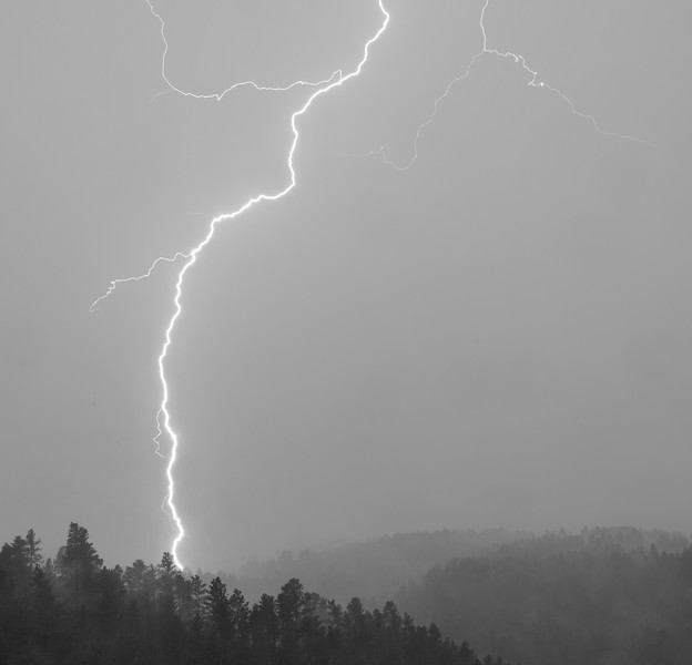 Lightning over the South Dakota Black Hills