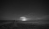 Distant moon lit thunderstorm in western South Dakota