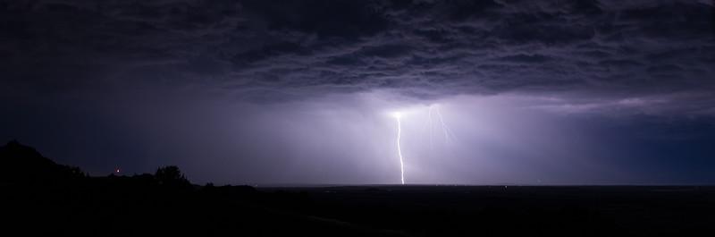 Lightning near the Badlands of South Dakota