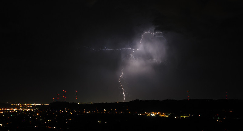 Lightning in Rapid City, South Dakota