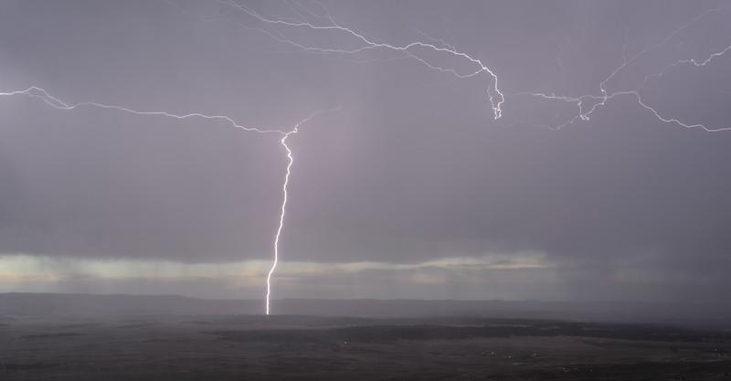 Lightning at Elk Mountain Lookout, South Dakota