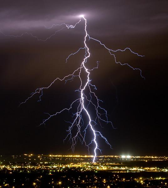 Lightning strike in east Rapid City.