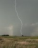 Lightning from thunderstorms near Valentine, Nebraska