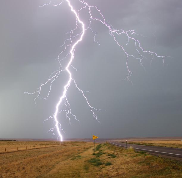 Lightning near Scenic, SD