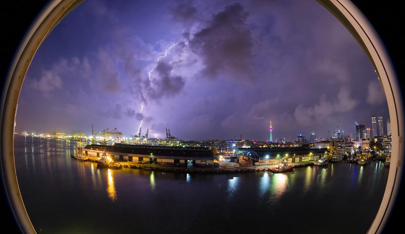 Storms over Colomob, Sri Lanka