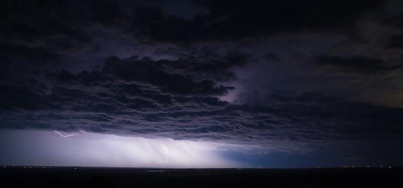 Lightning near the Badlands of South Dakota