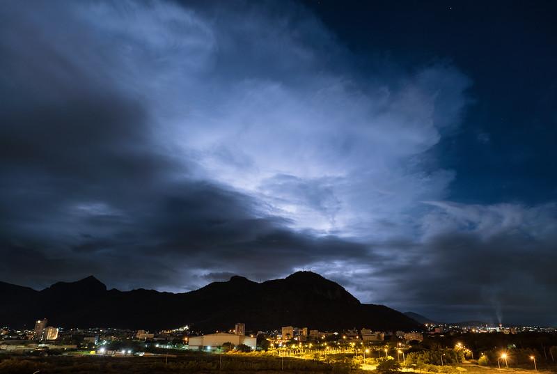 Lightning at Port Louis, Mauritius
