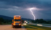 Lightning strike near Sturgis, South Dakota