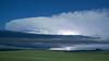 Moonlit storms in northwest South Dakota