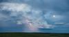 Storm and sunset near Bowman, North Dakota