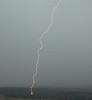 Close lightning strike in Rapid City, South Dakota