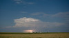 Distant moonlit storm over western South Dakota
