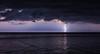 Thunderstorm moves over Lipari, Italy