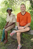Andrew Goldman and a park ranger at Victoria Falls National Park, Victoria Falls, Zimbabwe