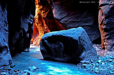"""In the Narrows,"" Zion National Park, Ut., Aug.'07"
