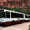 Zion Shuttle Buses at Zion National Park in Utah