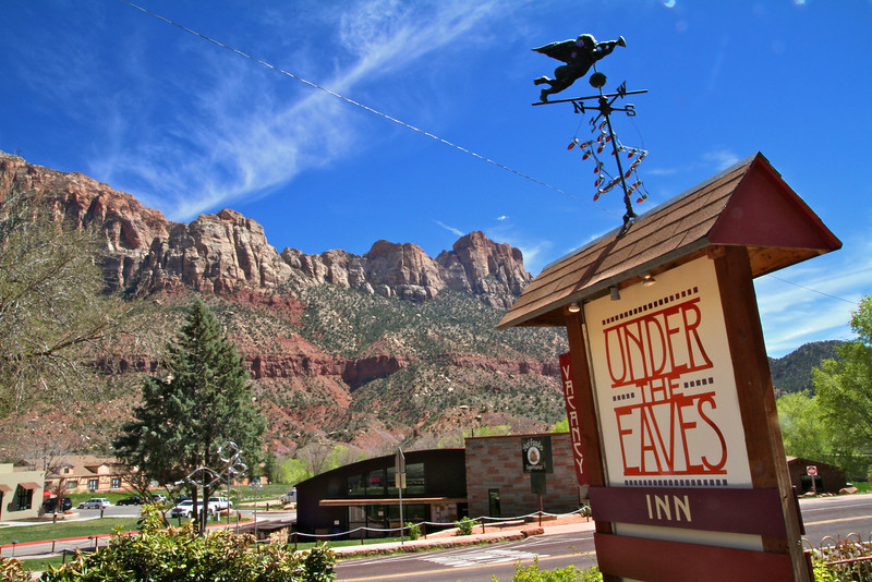 Under the Eaves Bed & Breakfast- Springdale, Utah. We love this place!!!