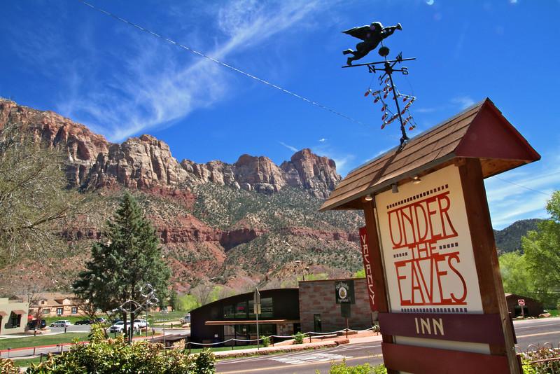 Under the Eaves Bed & Breakfast- Springdale, Utah. We love this place!!!