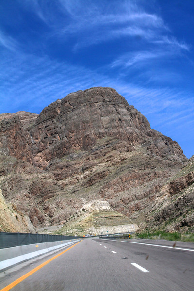Virgin River Gorge, Arizona, as seen from I-15.