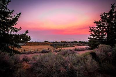 A Smokey Sunset in Reno
