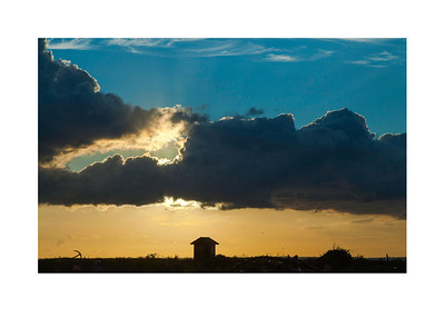 63 Sunset over the old fishermanns house - 53x73,5cm photoprint with black frame and plexiglass