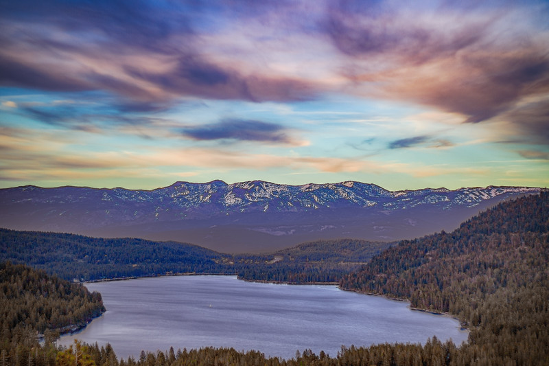 Stellar Sunset Over Donner Lake