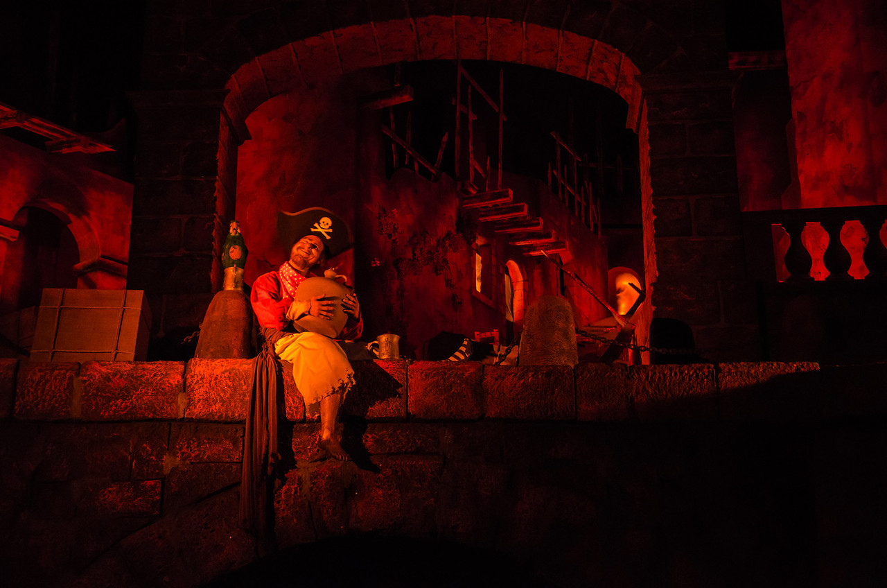 From inside the Pirates of the Caribbean ride at Magic Kingdom