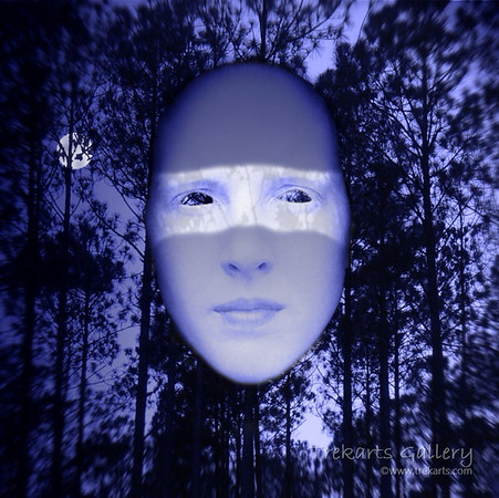 Moon Forest Mask - Print on Aluminium 30 x 30cm
