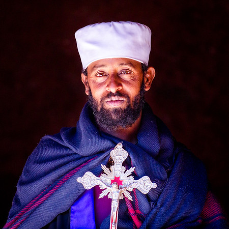 Ethiopian orthodox church is know for its many types of ceremonial crosses, each one, uniquely made and decorated is considered sacred. As worshipers come into a church, a priest touches them with the cross to bless and heal any ailments.