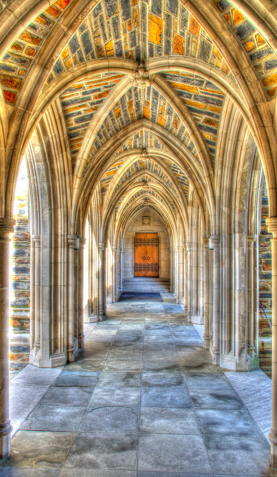 """One of the """"walk throughs"""" at the Chapel at Duke University"""