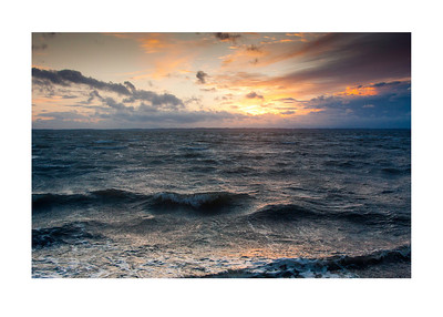 58 Storm in the sunset - 53x73,5cm photoprint with black frame and plexiglass