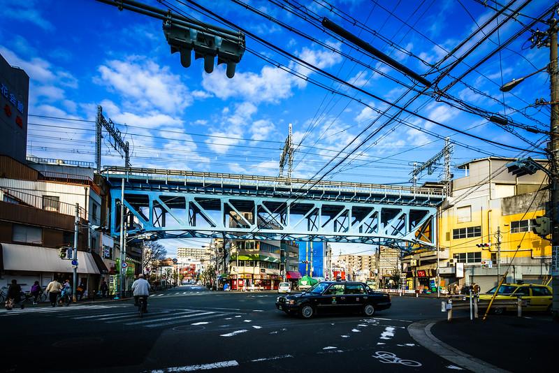 鉄道高架 阪神西九条駅 プラットトラス 2016 A Railway Viaduct close by HANSHIN-NISHIKUJO station Osaka,Japan