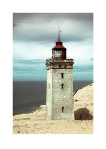 64 The buried old lighthouse - 53x75cm photoprint with black frame and plexiglass