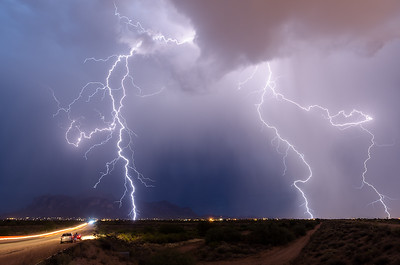 Monsoon over the Superstitions 3