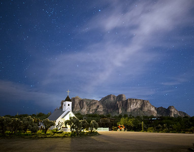 Elvis Chapel at night 3