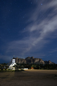 Elvis Chapel at night 2