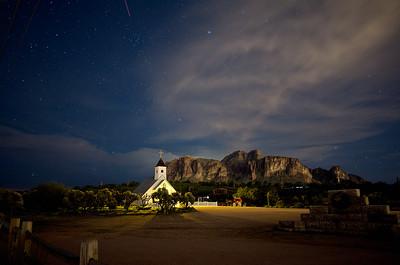 Elvis Chapel at night 1