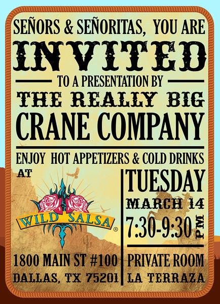 The Really Big Crane Company Spring Conference Invite