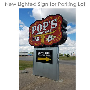 Pops Goodtime Bar Lighted Sign