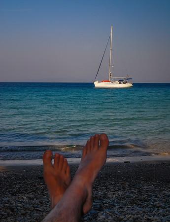 Relaxing On A Greek Island