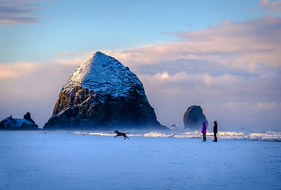 Snow Day In Cannon Beach