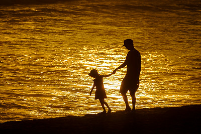 Sunset Walk With Dad